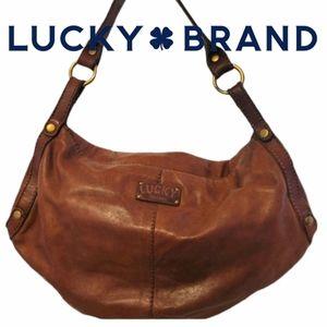 Lucky Brand leather shoulder/hobo bag